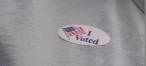 I voted sticker small