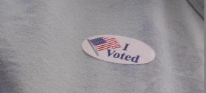 I voted sticker small
